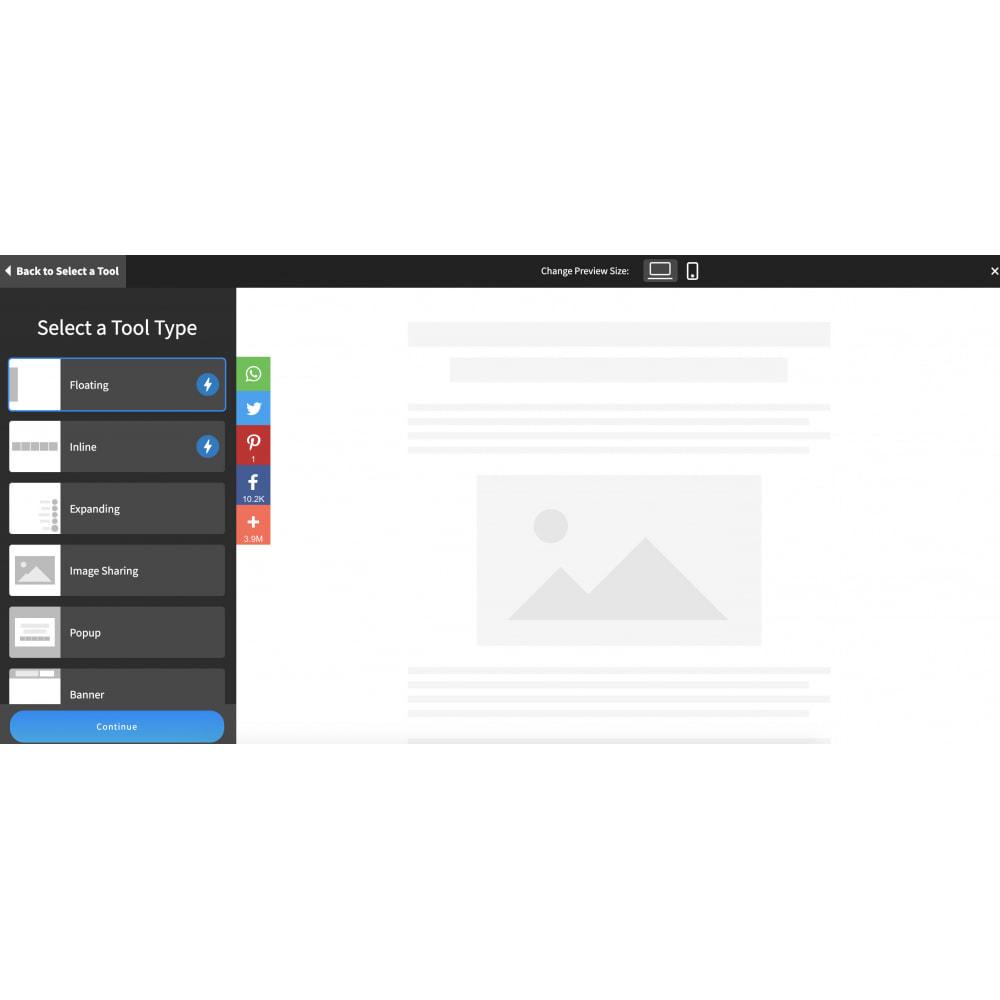 module - Widgets sozialer Netzwerke - Advanced Social Media Share Side Bar Links Buttons - 4