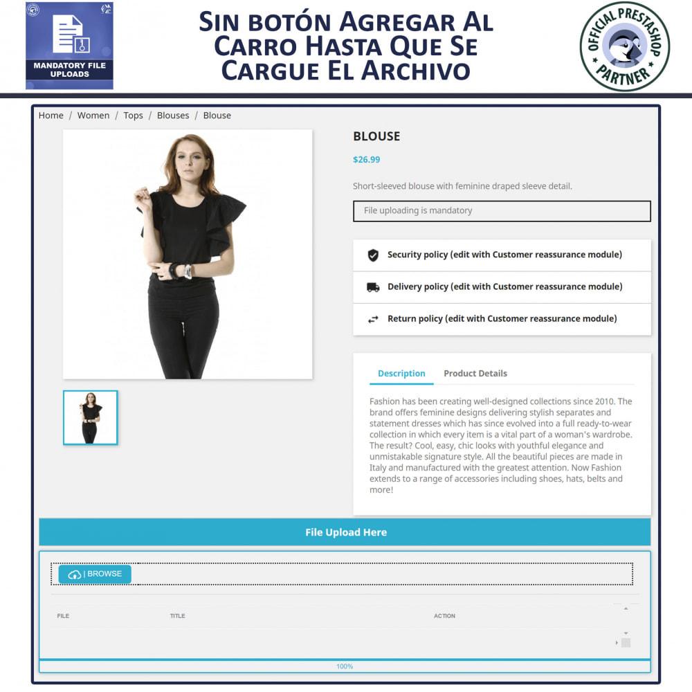 module - Informaciones adicionales y Pestañas - Carga De Archivo Obligatoria - 3