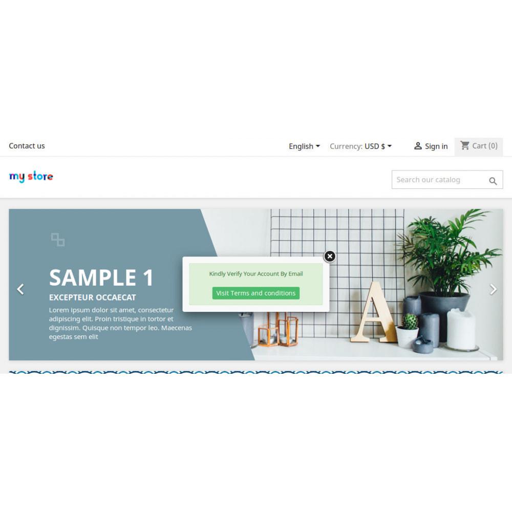 module - Gestion des clients - Activation du compte client / vérification des e-mails - 3