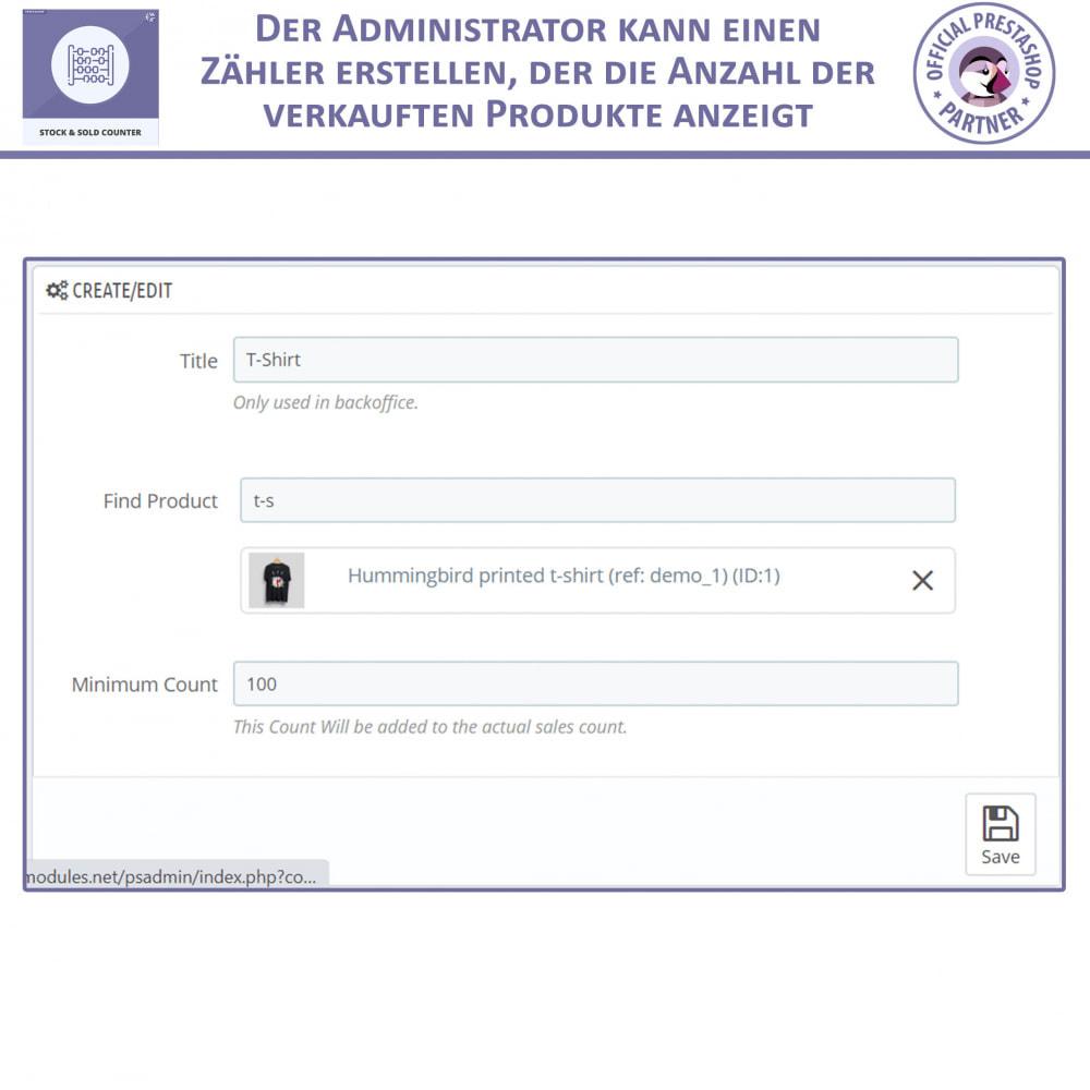 module - Bestands & Lieferantenmanagement - Lager und Verkauft Zähler - 5