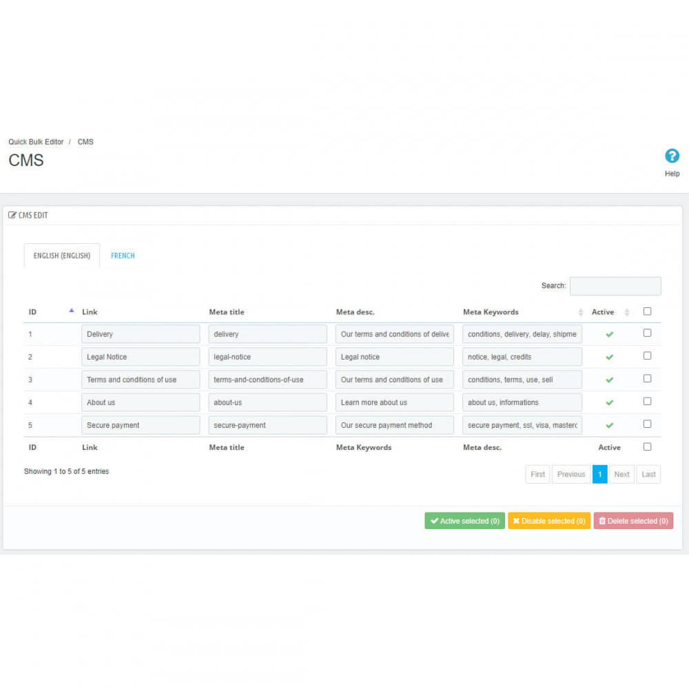 module - Modifica rapida & di massa - Quick Bulk Editor - 5