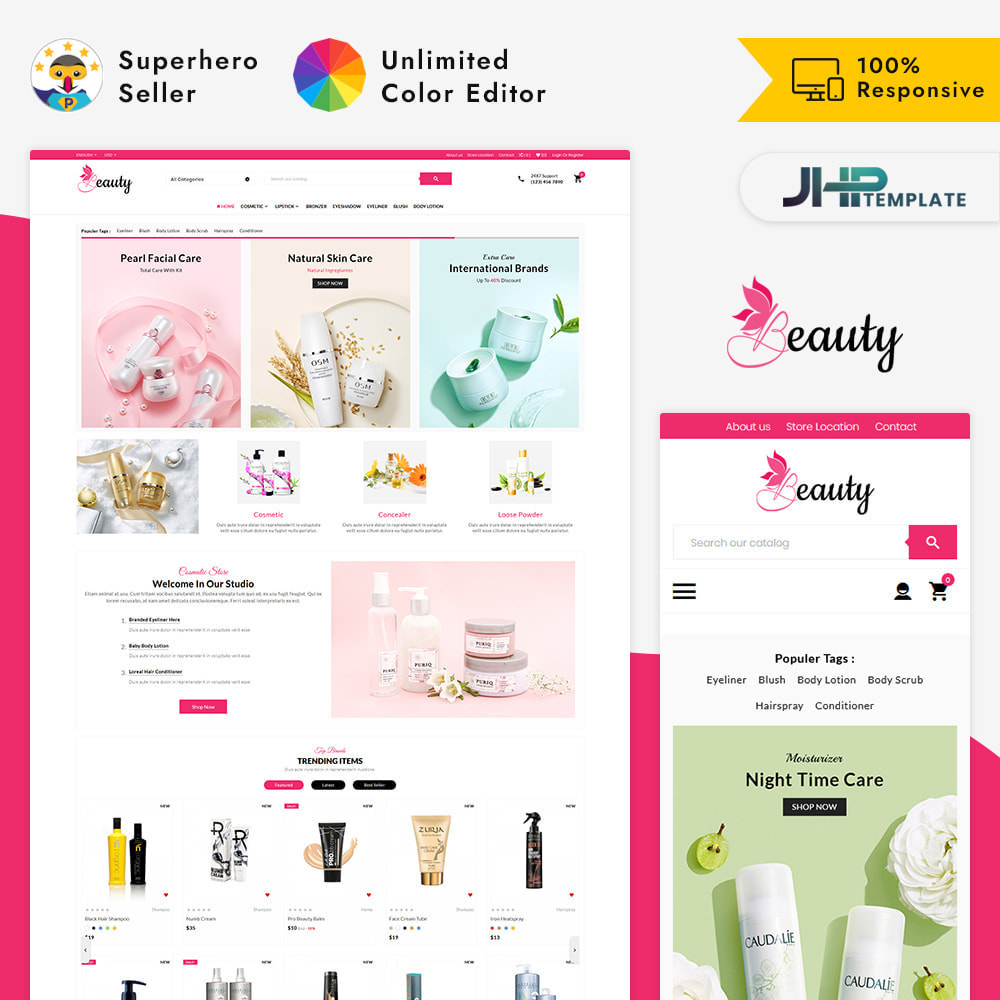 theme - Health & Beauty - Mega Mall - The Beauty Shop - 1