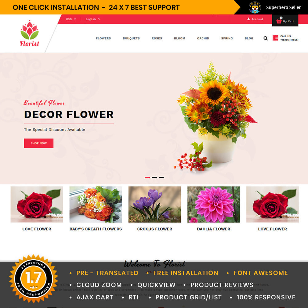 theme - Gifts, Flowers & Celebrations - Florist Flowers & Gifts Store - 1