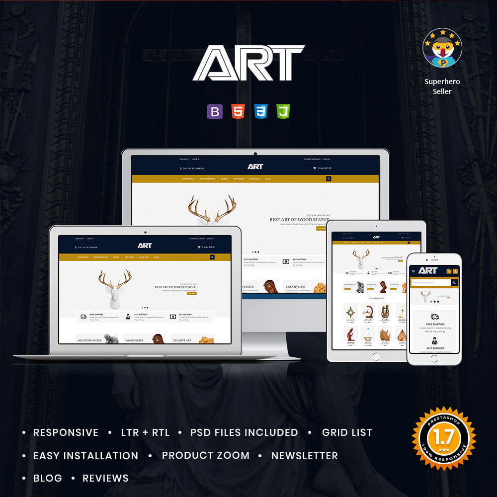 theme - Art & Culture - Art Show Pieces Store - 1