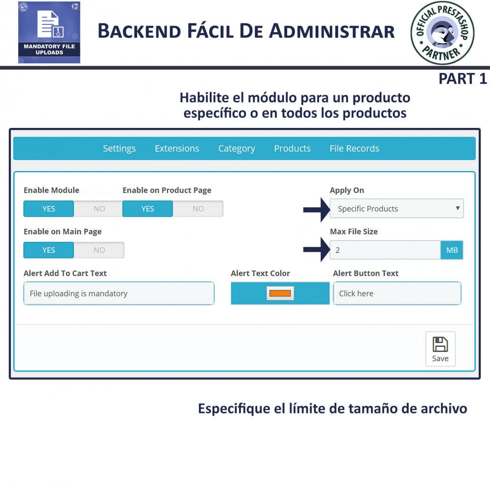module - Informaciones adicionales y Pestañas - Carga De Archivo Obligatoria - 5