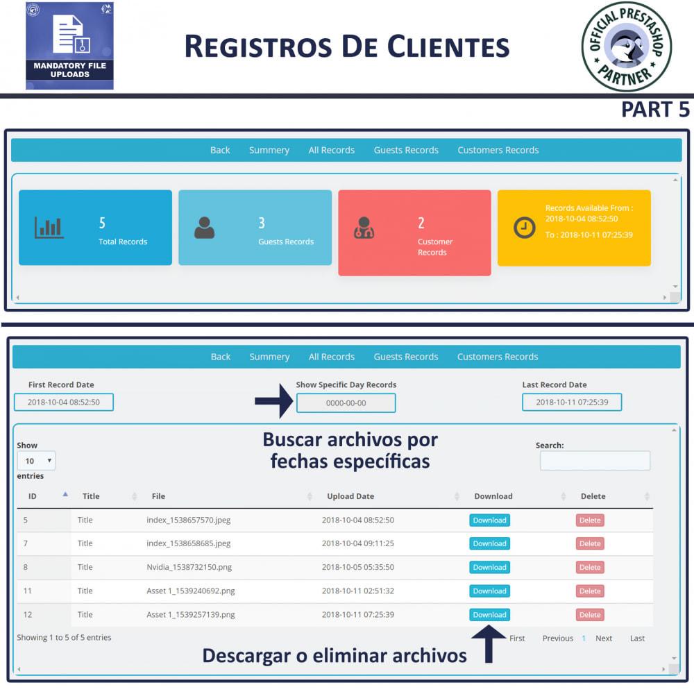 module - Informaciones adicionales y Pestañas - Carga De Archivo Obligatoria - 9