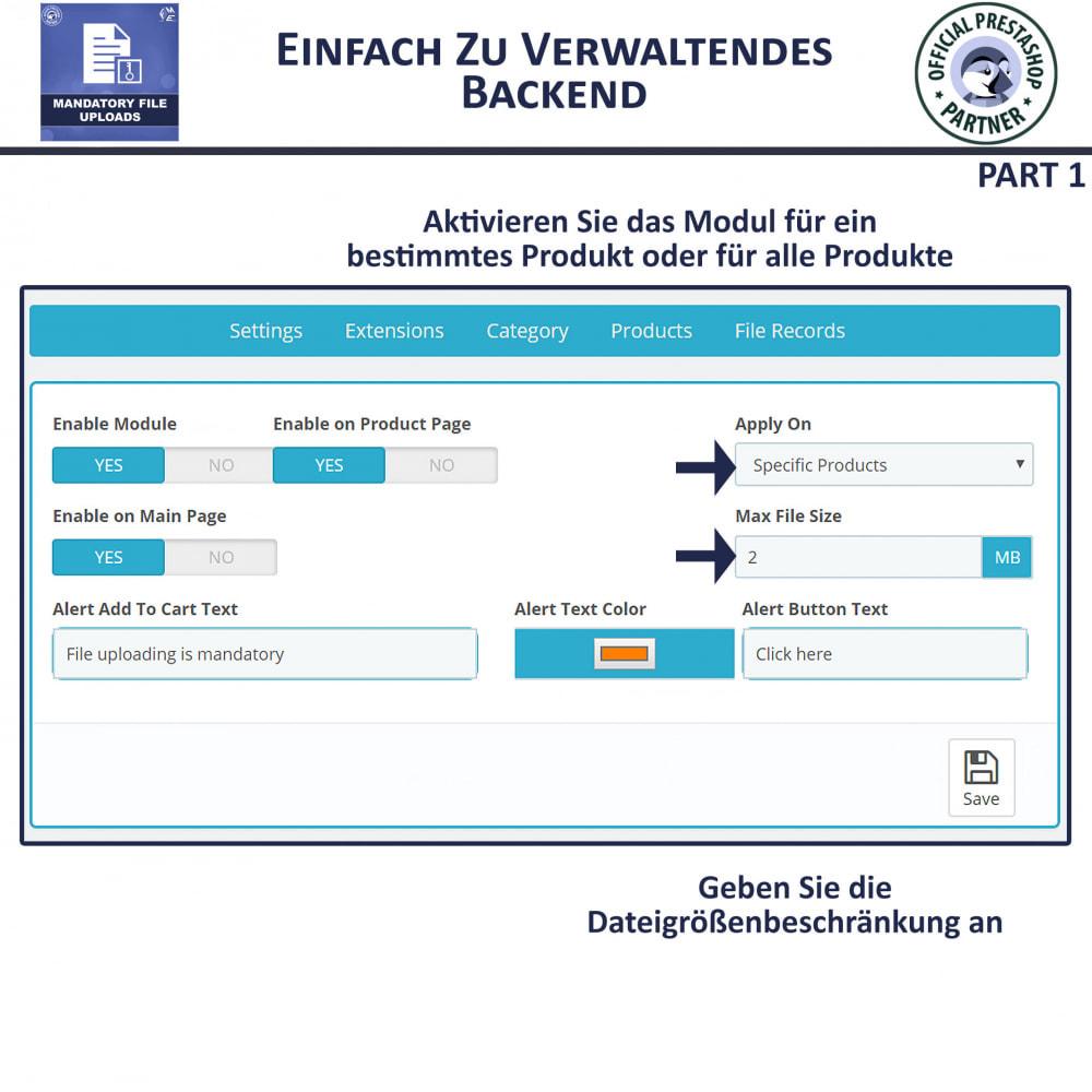module - Zusatzinformationen & Produkt-Tabs - Obligatorisches Hochladen Von Dateien - 5