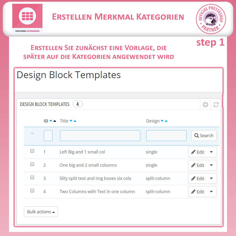 module - Individuelle Seitengestaltung - Vorgestellt Kategorien - 9
