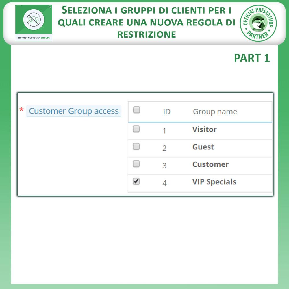 module - Altre informazioni & Product Tab - Limita prodotti, categorie e CMS per gruppi di clienti - 4