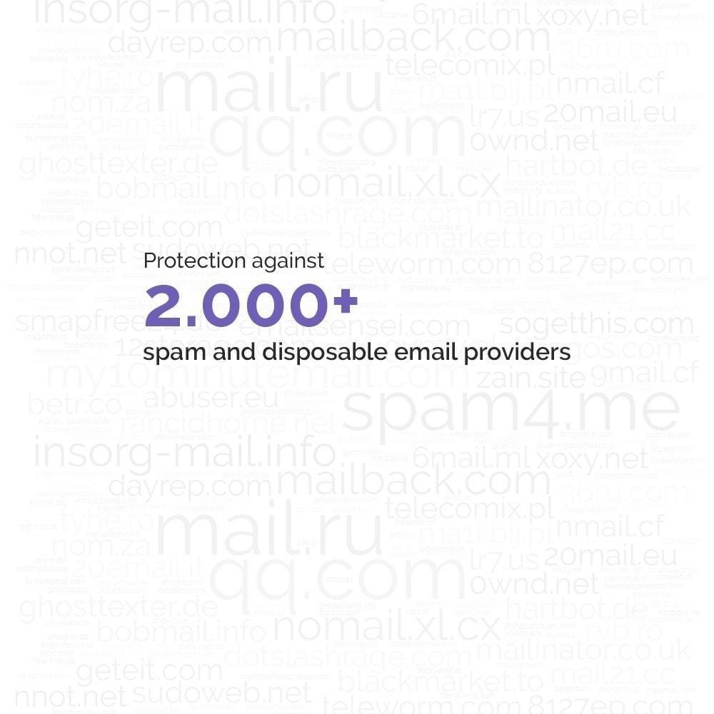 module - Sicherheit & Berechtigungen - Advanced Google Re-Captcha Antispam & Gefälschte Konten - 6