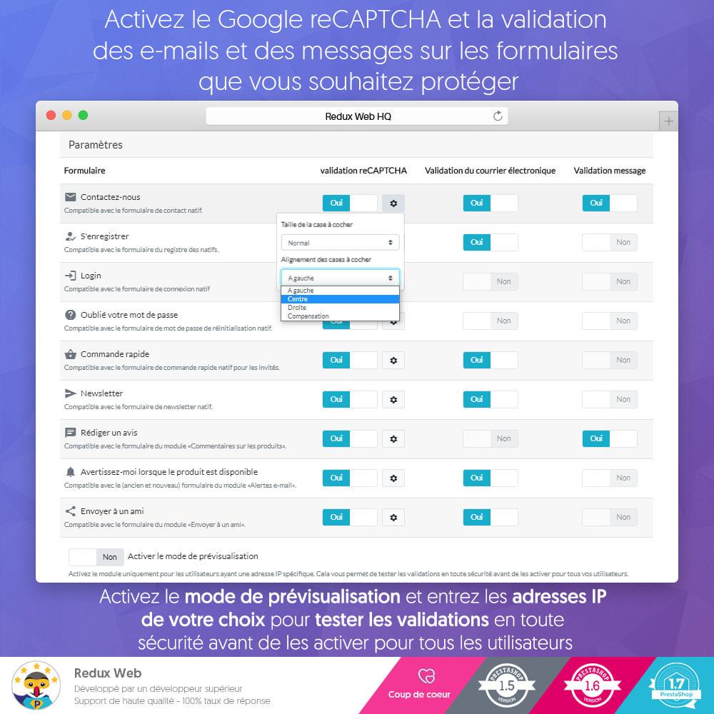 module - Sécurité & Accès - Antispam et Faux Comptes Google Re-Captcha Avancé - 8