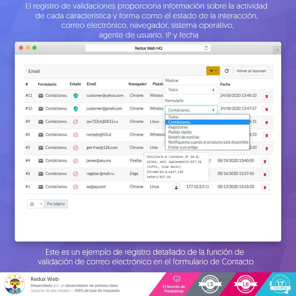 module - Seguridad y Accesos - Avanzado Google Re-Captcha Antispam y Cuentas Falsas - 9
