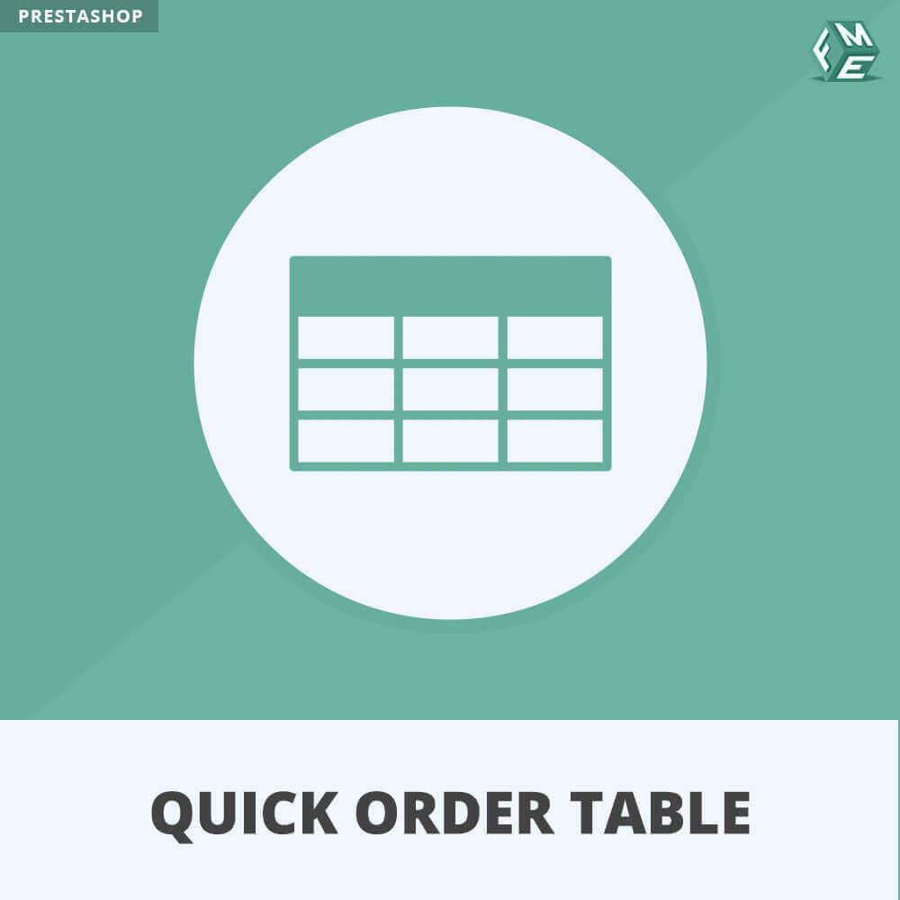 module - Orderbeheer - Snelle Besteltabel - 1
