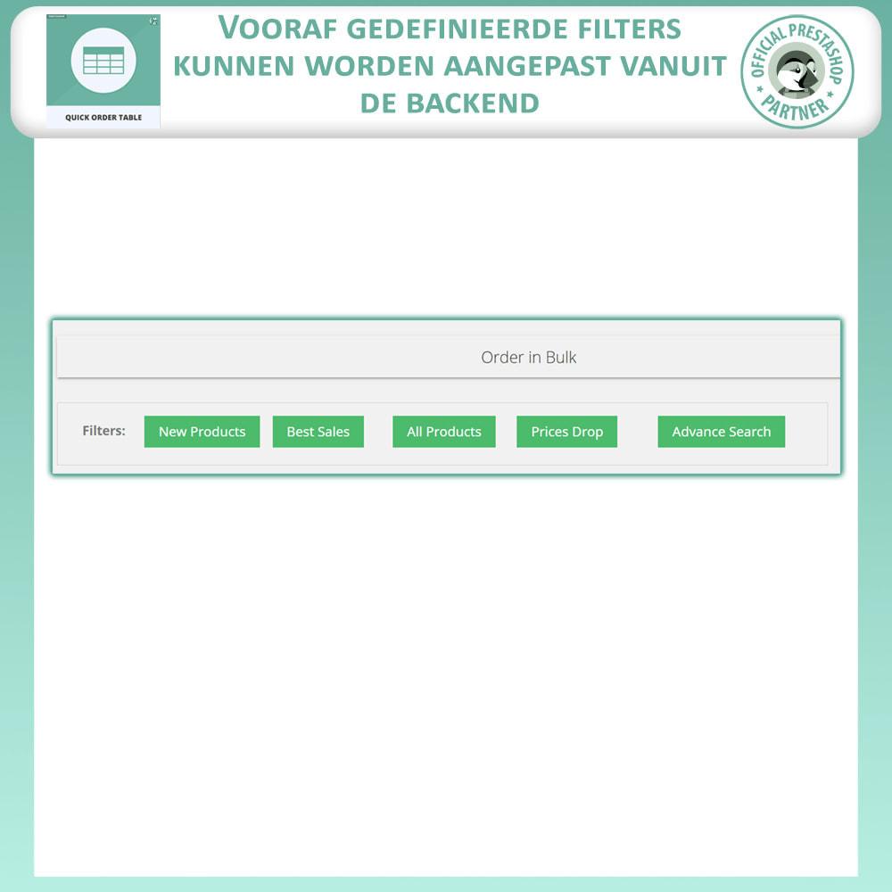 module - Orderbeheer - Snelle Besteltabel - 3