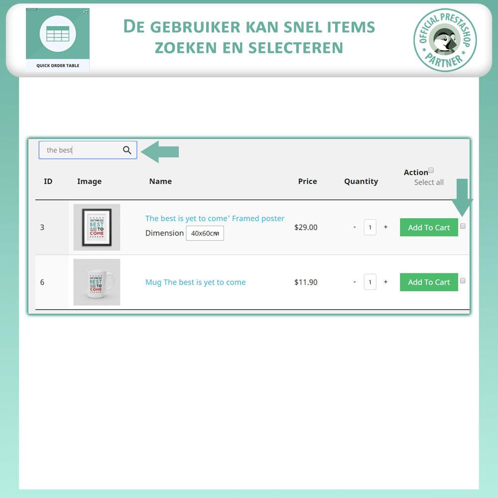 module - Orderbeheer - Snelle Besteltabel - 4
