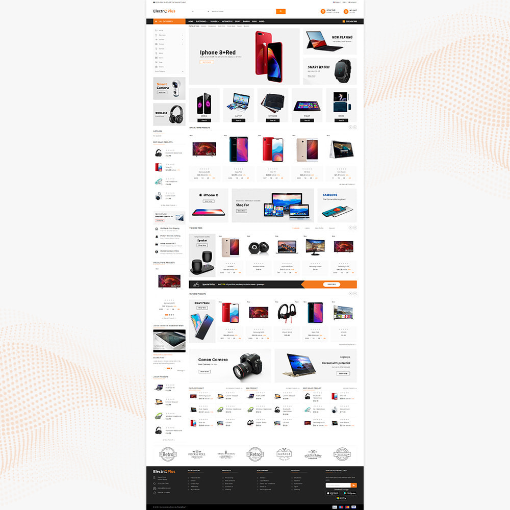 theme - Электроника и компьютеры - Mega Mall Electro Plus – Electronices Shop - 2