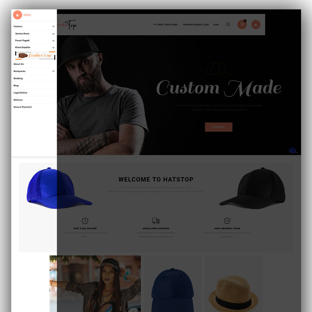 theme - Moda & Calzature - Hatstop - Cap Store - 2