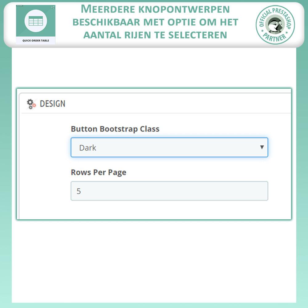 module - Orderbeheer - Snelle Besteltabel - 10