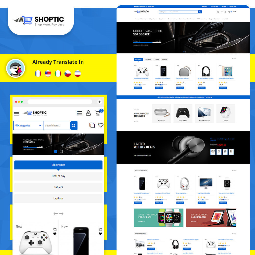 theme - Electronics & Computers - Shoptic - Online Electronic Super Store Template - 1