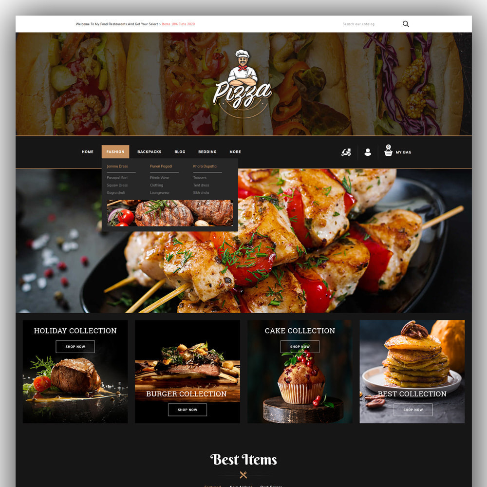 theme - Lebensmittel & Restaurants - Pizza - Food Store - 2