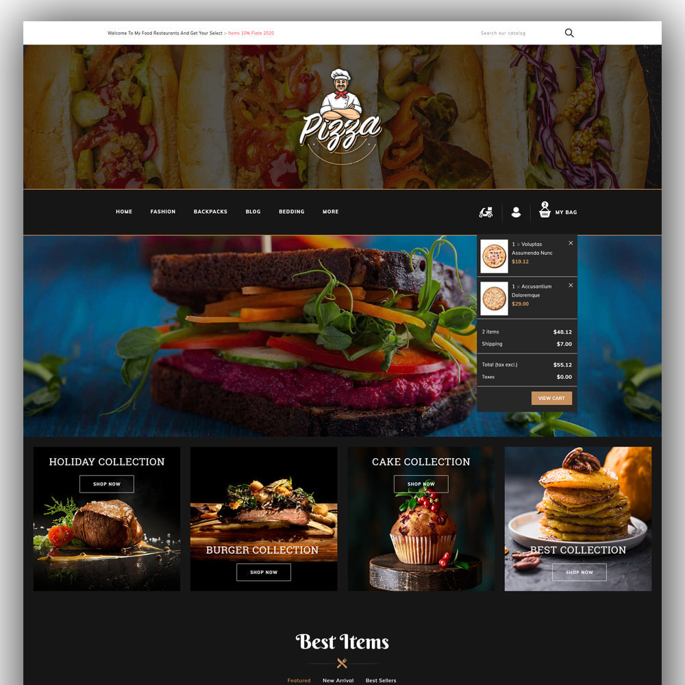 theme - Lebensmittel & Restaurants - Pizza - Food Store - 3