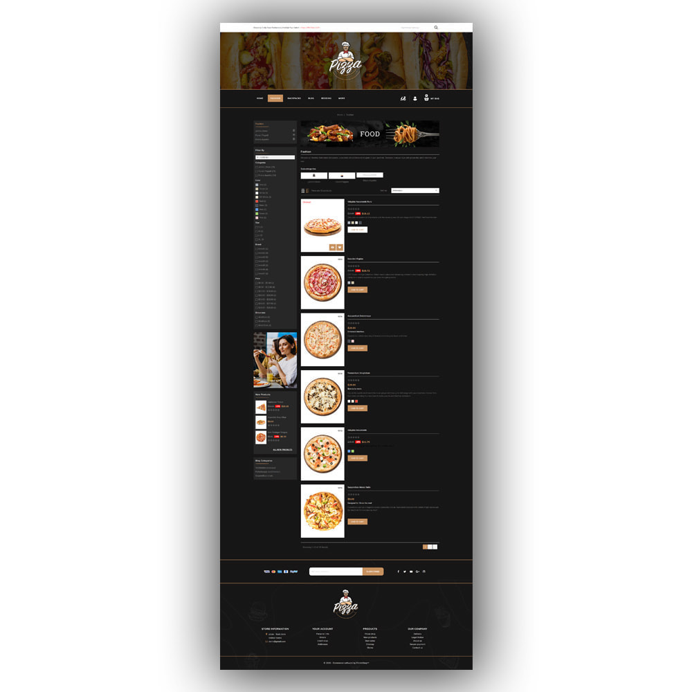 theme - Lebensmittel & Restaurants - Pizza - Food Store - 5
