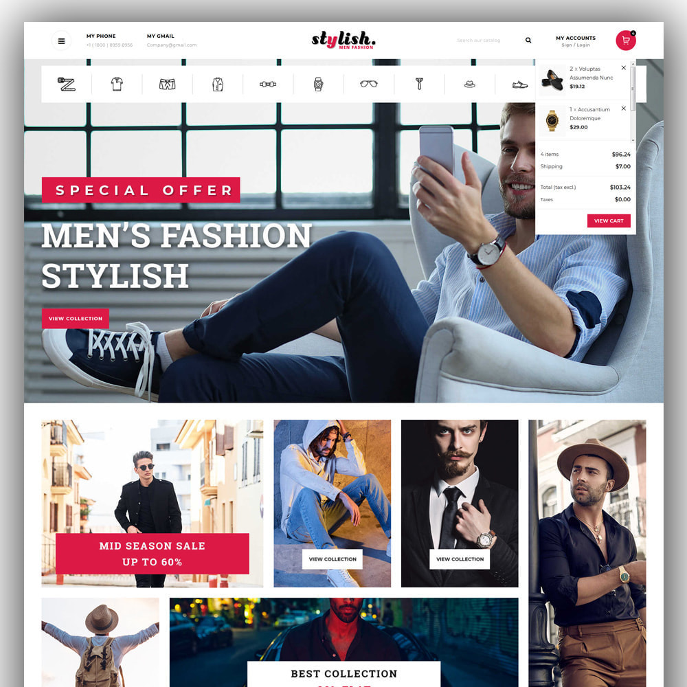 theme - Fashion & Shoes - Stylish - Mens Fashion Store - 3