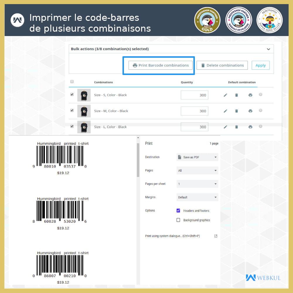 module - Préparation & Expédition - Étiquette code-barres de produit | générateur de code - 6