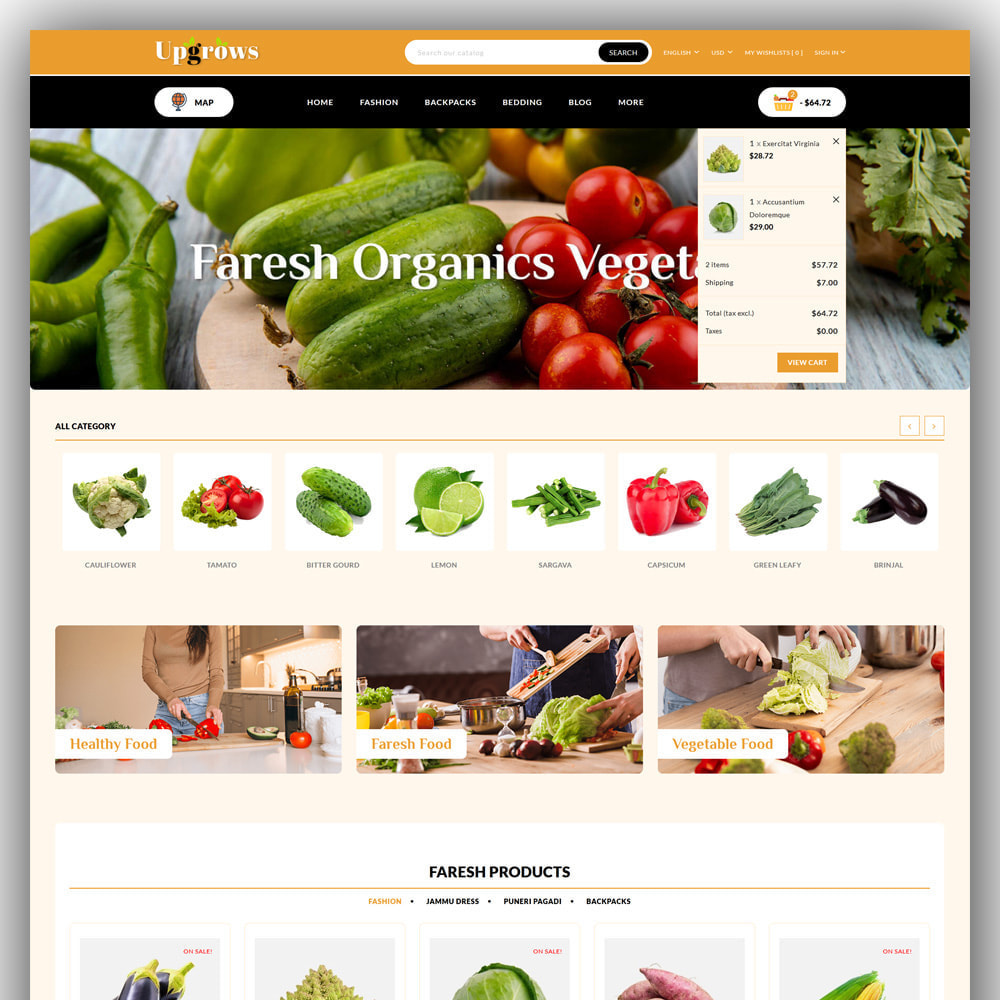 theme - Продовольствие и рестораны - Upgrows - Organic Vegetable Store - 3