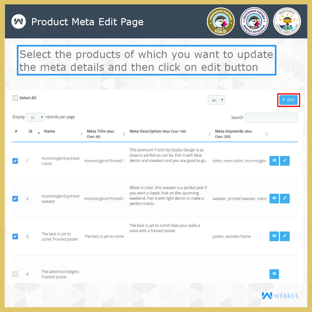 module - Fast & Mass Update - Custom Product & Category Meta Details - 4