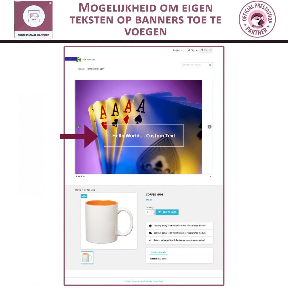 module - Gallerijen & Sliders - Professionele banner - Responsieve bannerschuifregelaar - 3