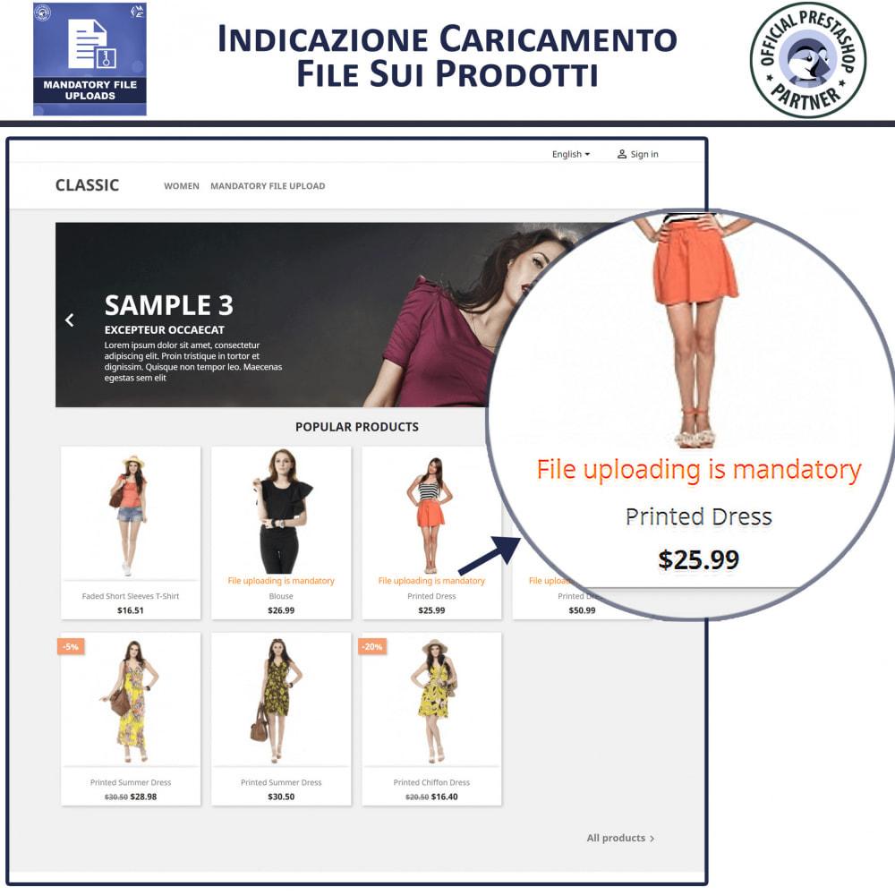 module - Altre informazioni & Product Tab - Caricamento File Obbligatorio - 2