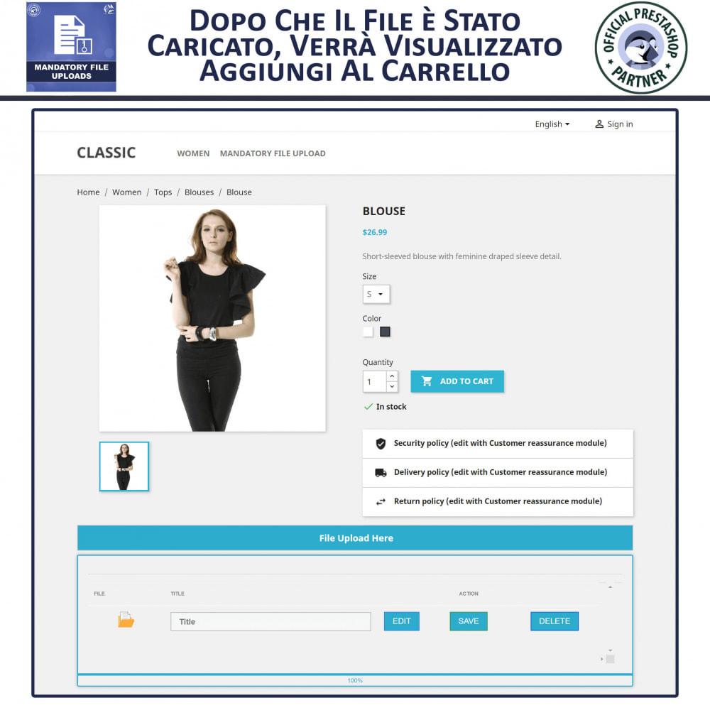 module - Altre informazioni & Product Tab - Caricamento File Obbligatorio - 4