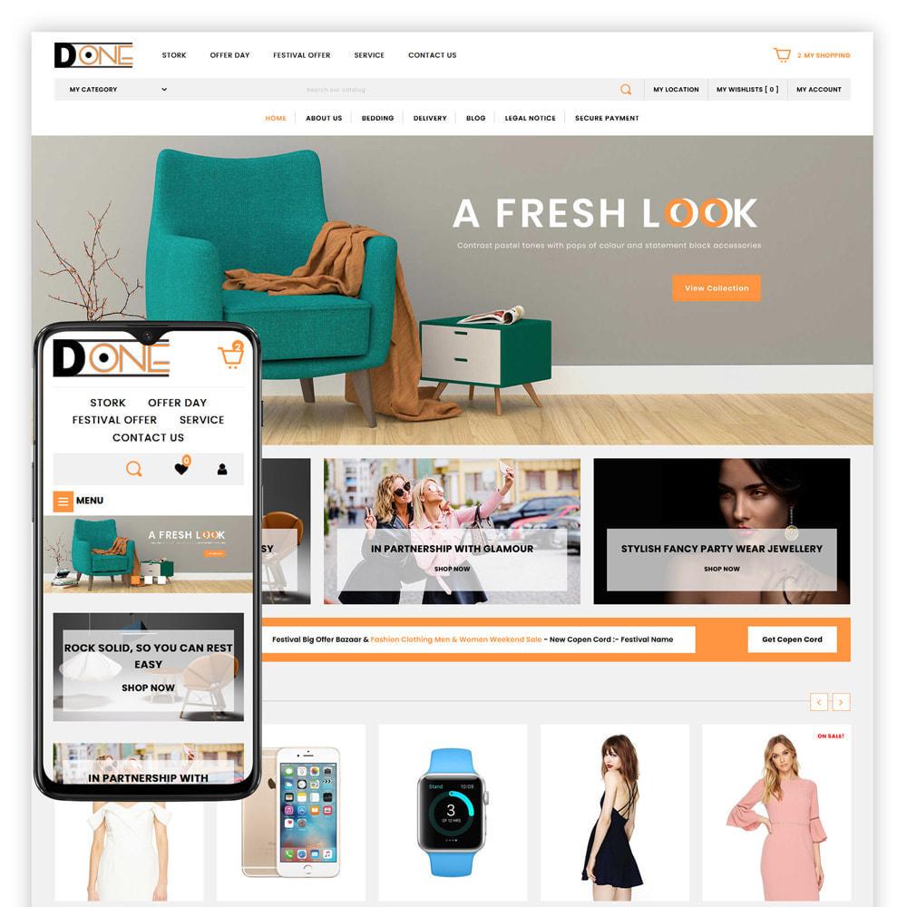 theme - Fashion & Shoes - D- One - Mega Store - 1