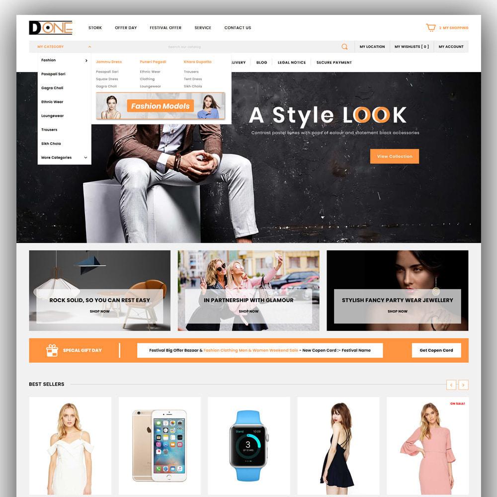 theme - Fashion & Shoes - D- One - Mega Store - 2