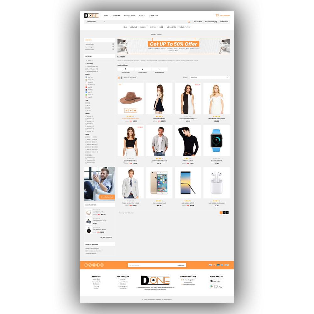 theme - Fashion & Shoes - D- One - Mega Store - 4