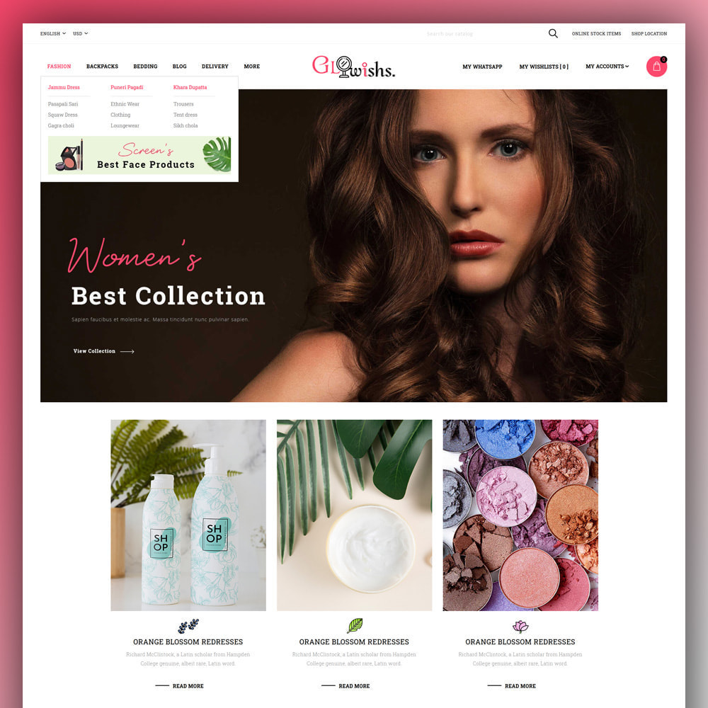 theme - Health & Beauty - Glowishs - Cosmetic Store - 2