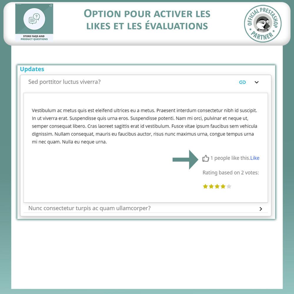 module - FAQ (questions fréquentes) - Questions fréquentes + Questions sur les produits - 5