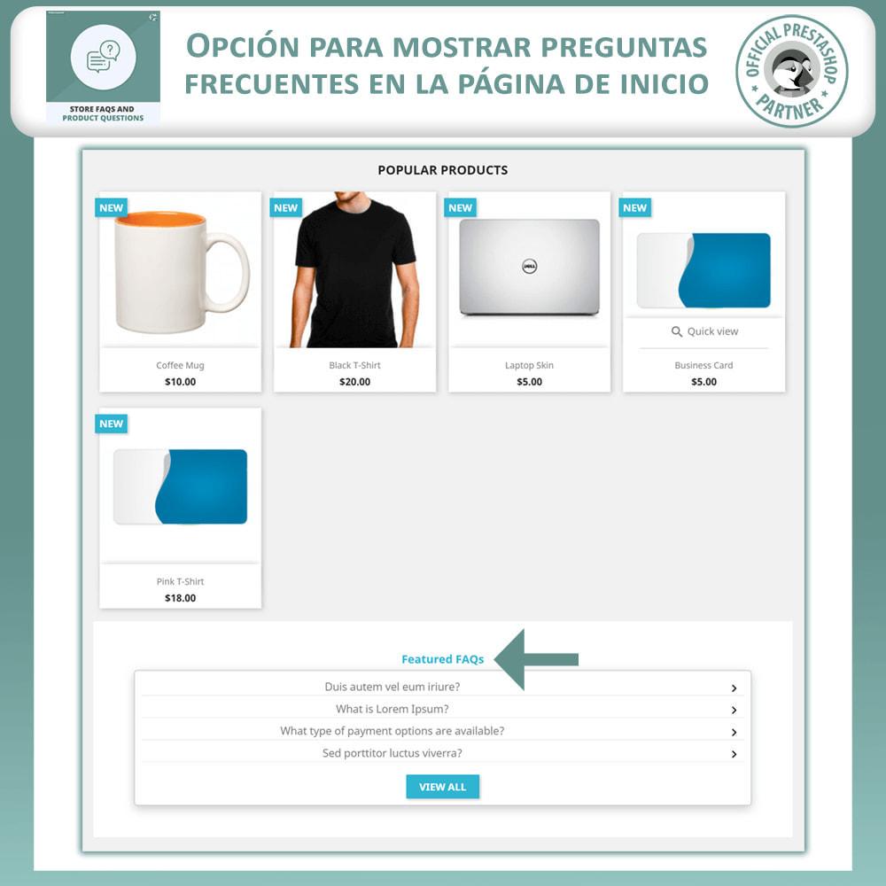 module - Preguntas Frecuentes - Reguntas Frecuentes + Preguntas del Producto - 2