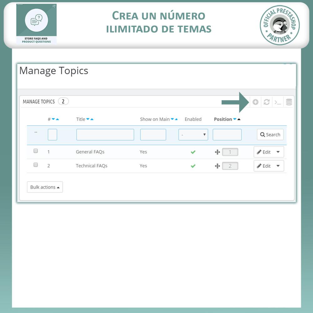 module - Preguntas Frecuentes - Reguntas Frecuentes + Preguntas del Producto - 10