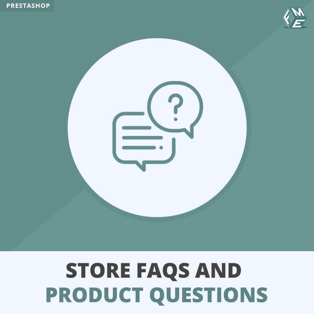 module - FAQ (Häufig gestellte Fragen) - FAQs + Produkt Fragen + Geschäft FAQs und Produkt FAQs - 1