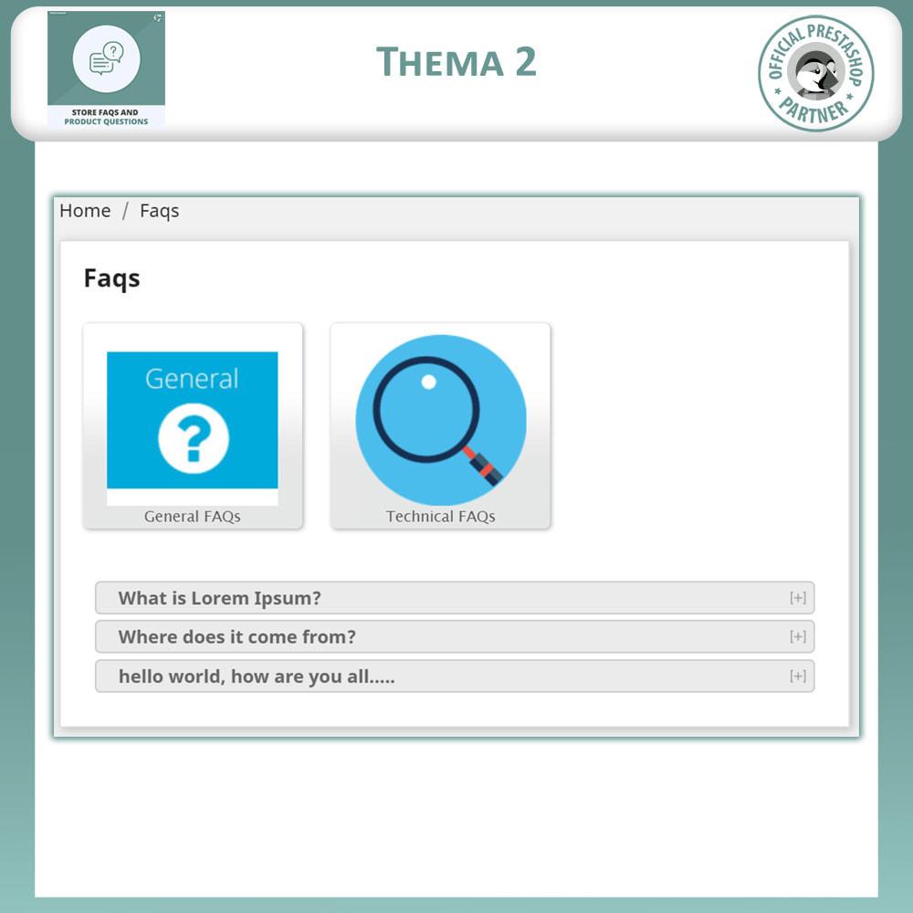 module - FAQ (Häufig gestellte Fragen) - FAQs + Produkt Fragen + Geschäft FAQs und Produkt FAQs - 4