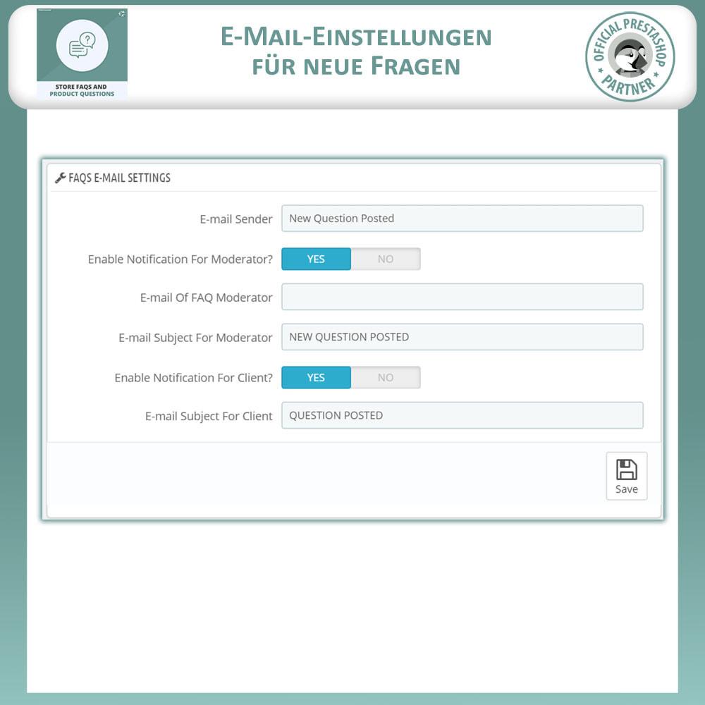 module - FAQ (Häufig gestellte Fragen) - FAQs + Produkt Fragen + Geschäft FAQs und Produkt FAQs - 13