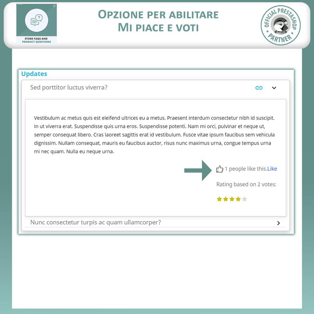 module - FAQ (Domande Frequenti) - FAQ del Negozio + Domande sui Prodotti - 5