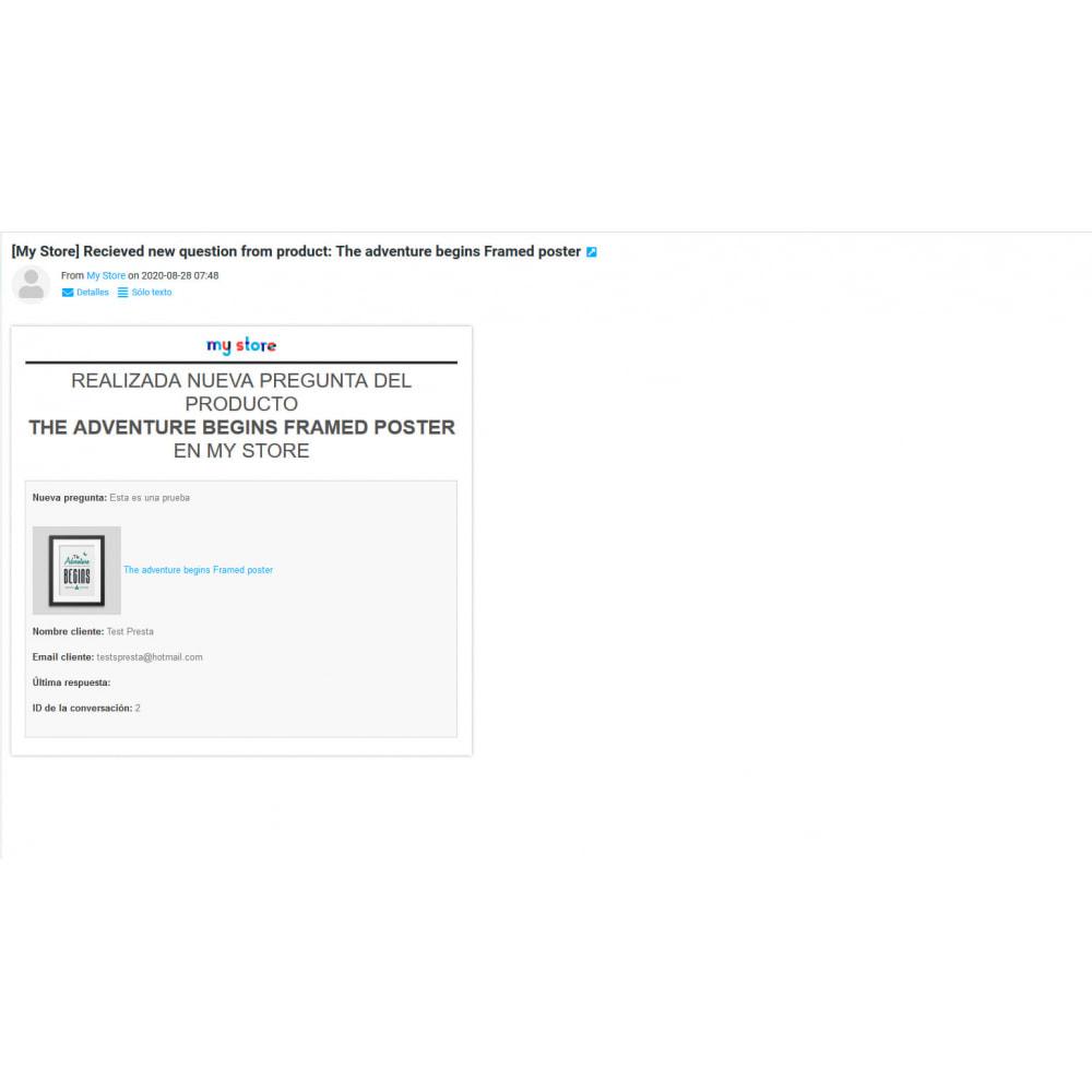 module - Informaciones adicionales y Pestañas - Pregunta en página de producto y gestión histórico - 17