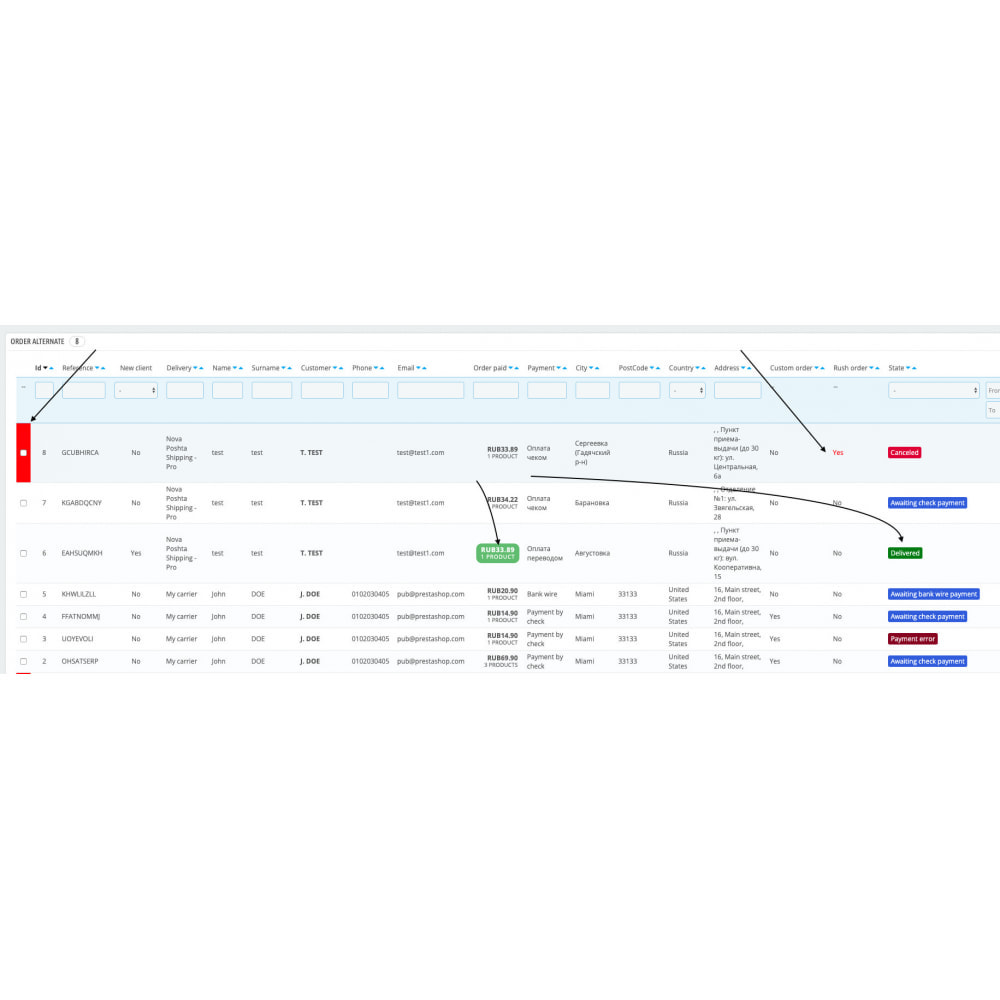 module - Auftragsabwicklung - Configurable back-end order list view - 10
