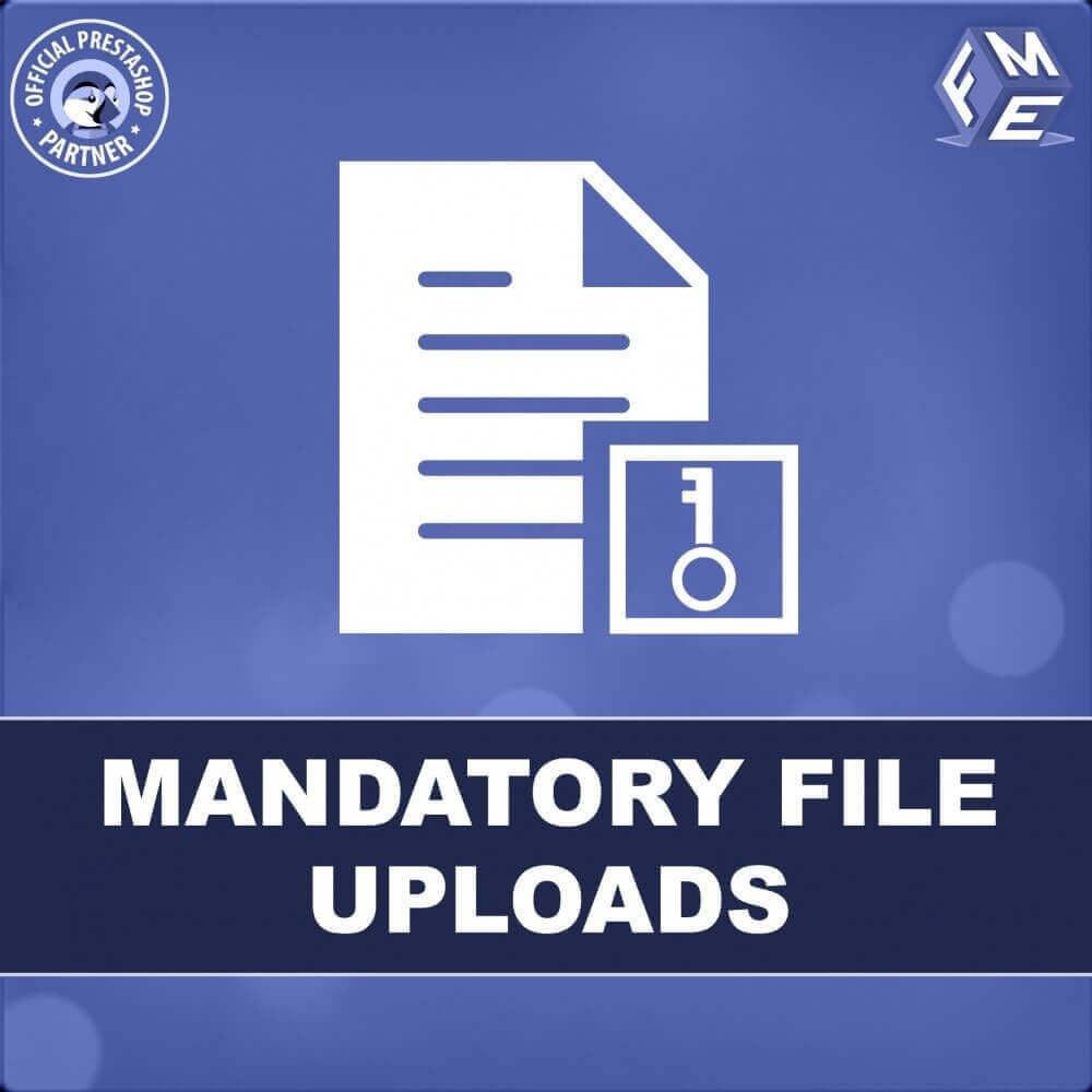 module - Dodatkowe informacje & Zakładka produktu - Obowiązkowe Przesyłanie Plików - 1