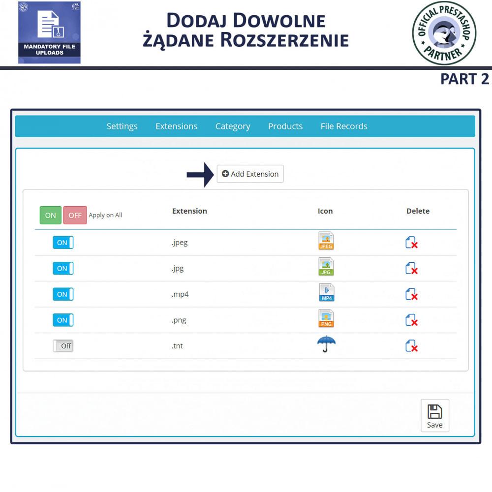 module - Dodatkowe informacje & Zakładka produktu - Obowiązkowe Przesyłanie Plików - 6