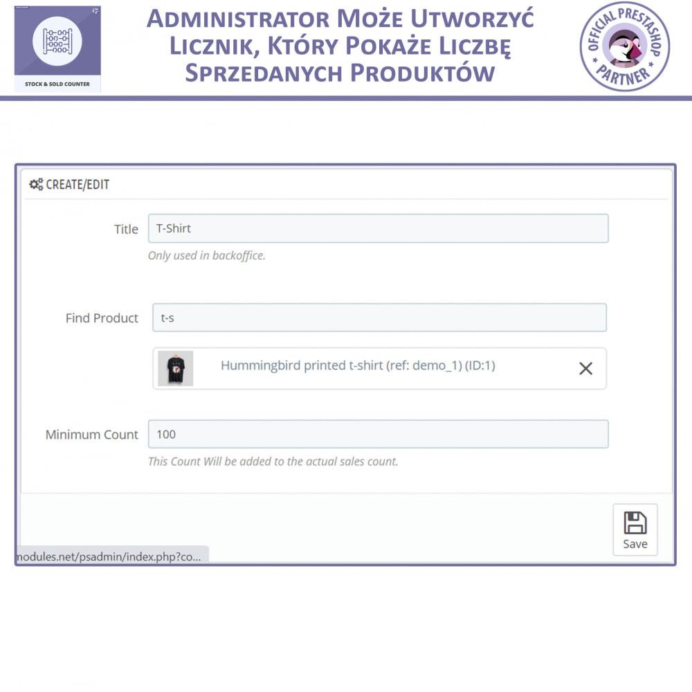 module - Zarządzanie zapasami &  Dostawcy - Licznik zapasów i sprzedanych - 5