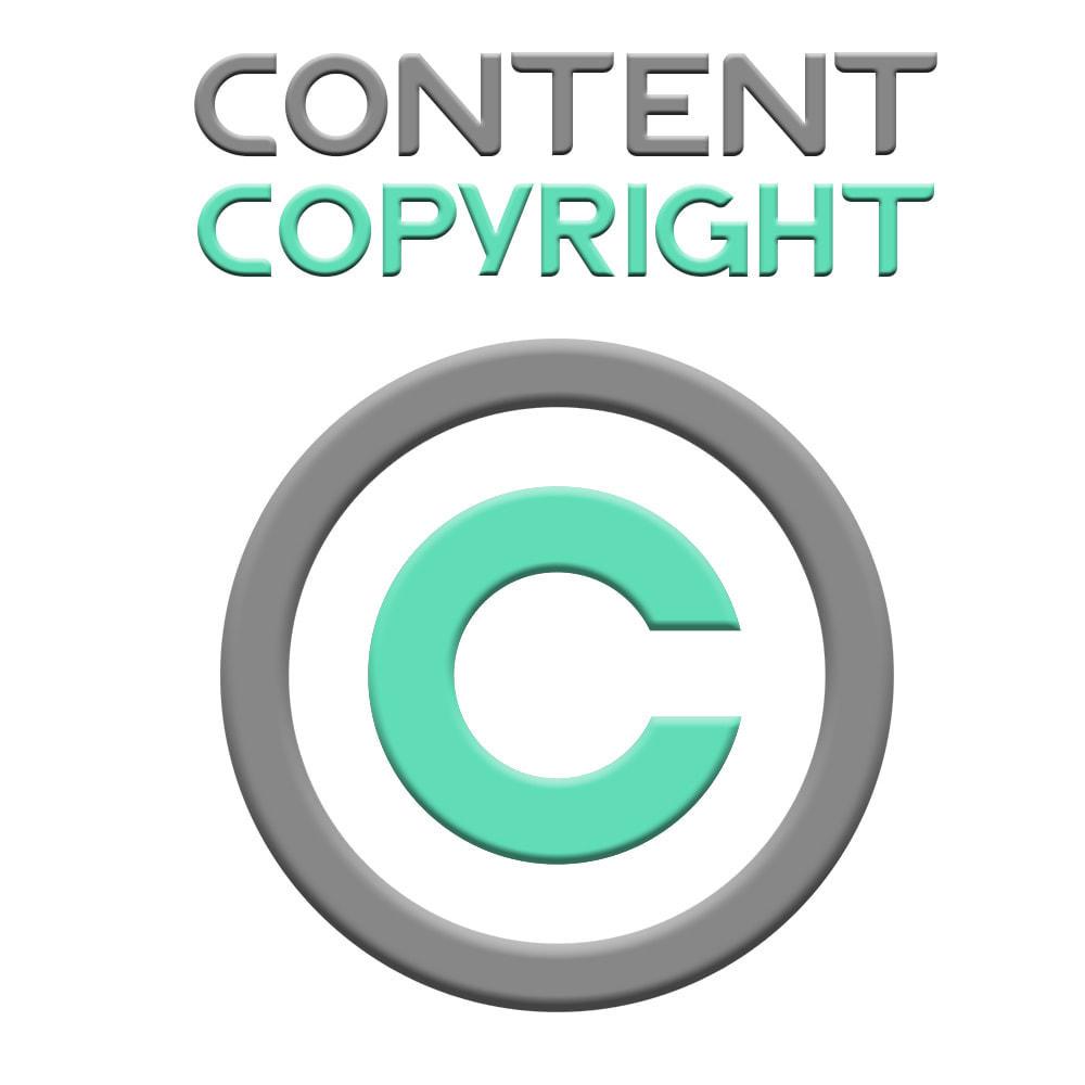 module - Blog, Foro y Noticias - Contenido con Copyright - 1